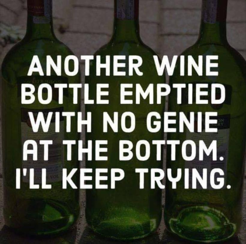 Another wine bottle no genie